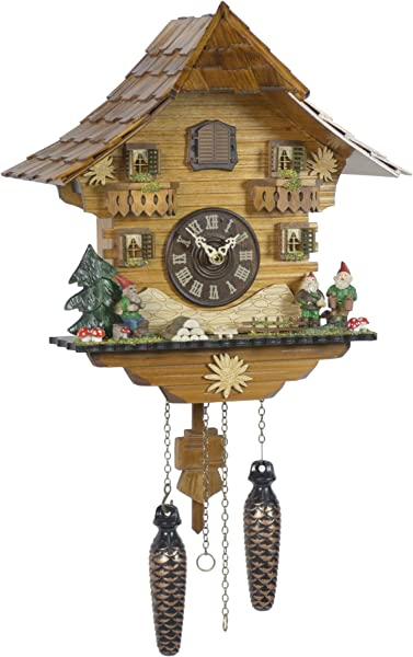 Trenkle Quartz Cuckoo Clock Black Forest House TU 430 Q