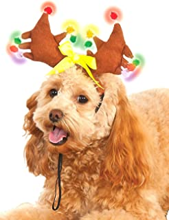 Rubies Costume Light Up Reindeer Antlers Dog Accessory