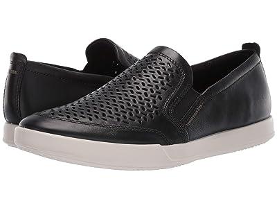 ECCO Collin 2.0 Perforated Slip-On (Black) Men