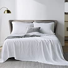 Bedsure Linen Sheets Set Twin Size - 100% Linen Bed Sheets Deep Pocket Sheets, Breathable Bedding Set, Washed French Linen...