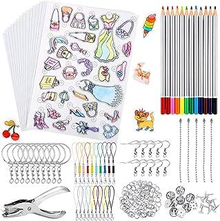 CGBOOM 198 pièces Feuille Plastique Fou, Plastique Dingue pour Activité Manuelle, Incluent A4 15 Papier Fou Transparent, 5...