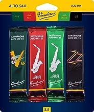 Vandoren SRMIXA35 Alto Sax Jazz Reed Mix Card includes 1 each ZZ, V16, JAVA and JAVA Red Strength 3.5