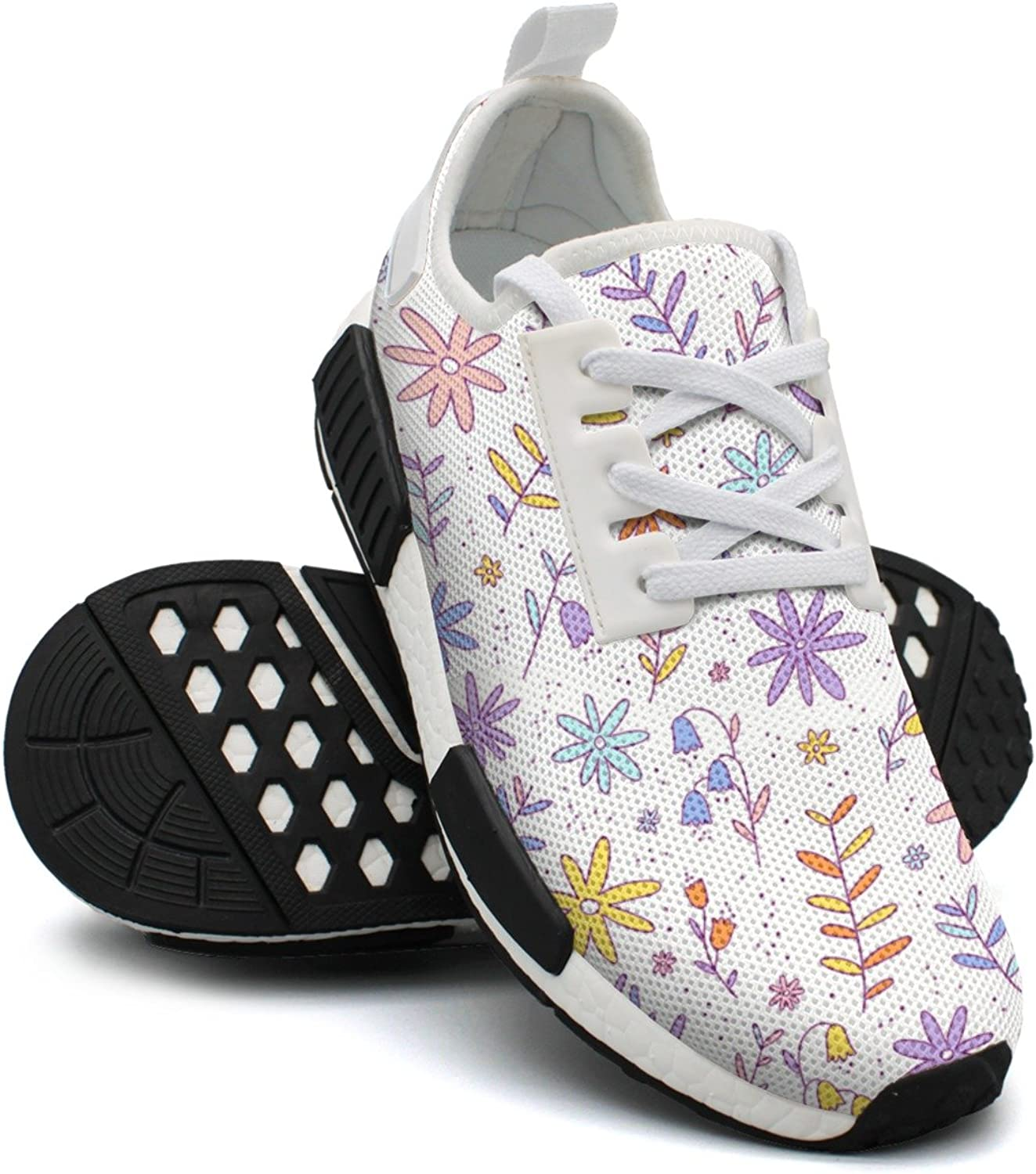 Ktyyuwwww Womens colorful Camping colorful Flowers Hunting Design Running shoes