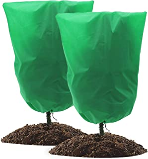 """Plant Cover 2 Packs,Plant Covers Freeze Protection,79"""" x 94"""" Reusable Plant Cover Protection Bags with Drawstring for Wint..."""