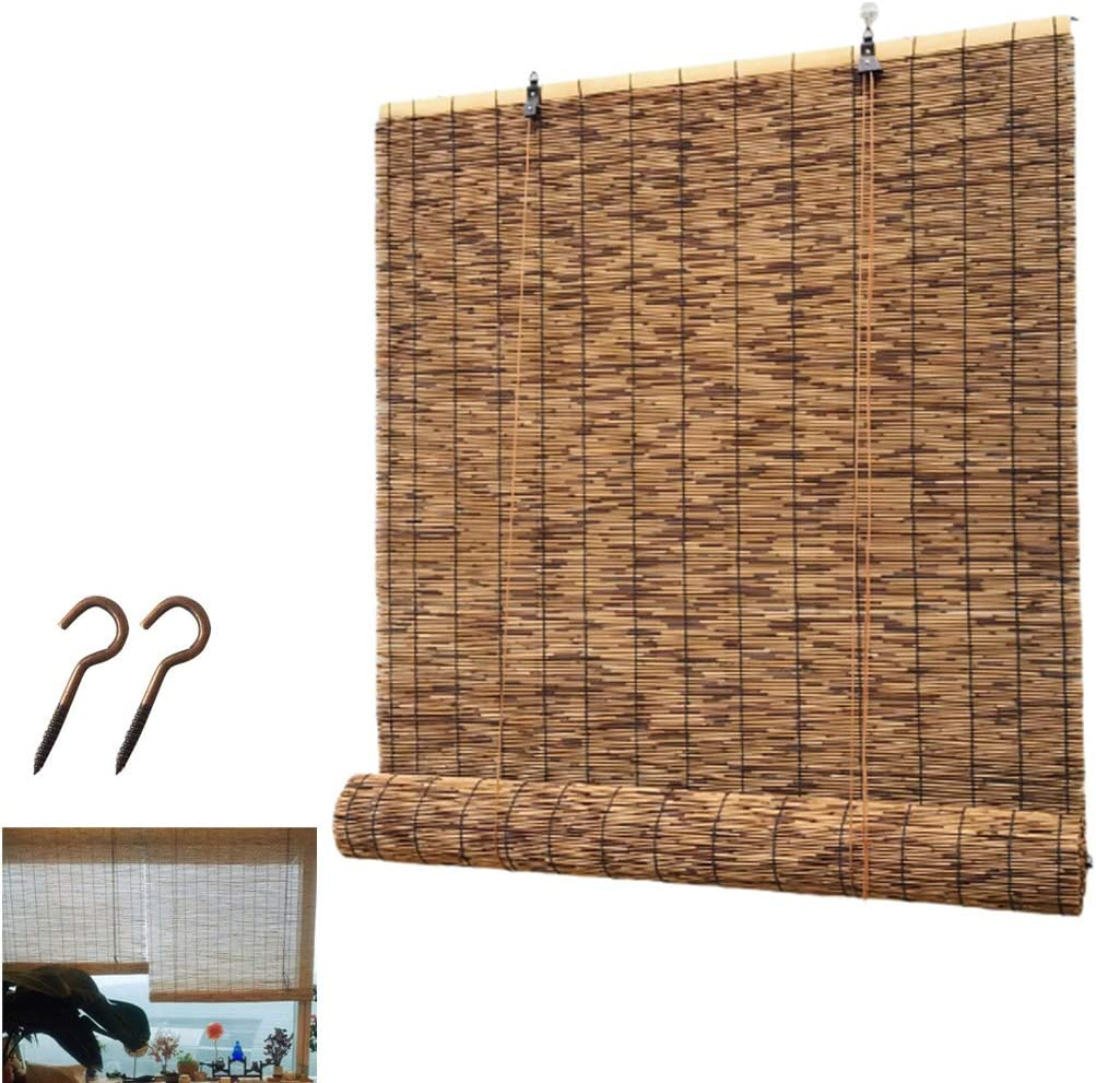 Zlovne Carbonization Over item handling Bamboo Curtains Natural Roman 2021new shipping free Reed