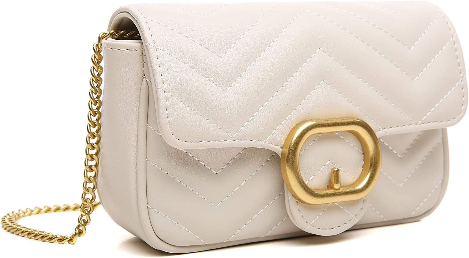 CossLandy Max 66% OFF Women Quilted Crossbody Bag with Cellphone Chain Cheap sale Strap