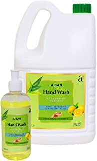 A SAN Combo Pack of Germ Protection Hand Wash (Eucalyptus + Citrus), (5 l + 300 ml)