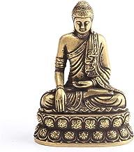Retro Brass Buddha Sakyamuni Statue Mini Portable Pocket Sitting Buddha Sculpture Home Decor Office Desk Decorations Ornam...