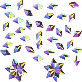 100 PCS 3D Art Nail Flatback Rhinestones Clear Crytals AB 6x10mm Rhombus DIY Crafts