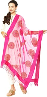 Woman's Organza Dupatta with Embroidery.