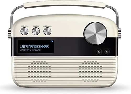 Saregama Carvaan Marathi - Portable Music Player with 5000 Preloaded Songs, FM/BT/AUX  (Porcelain White)