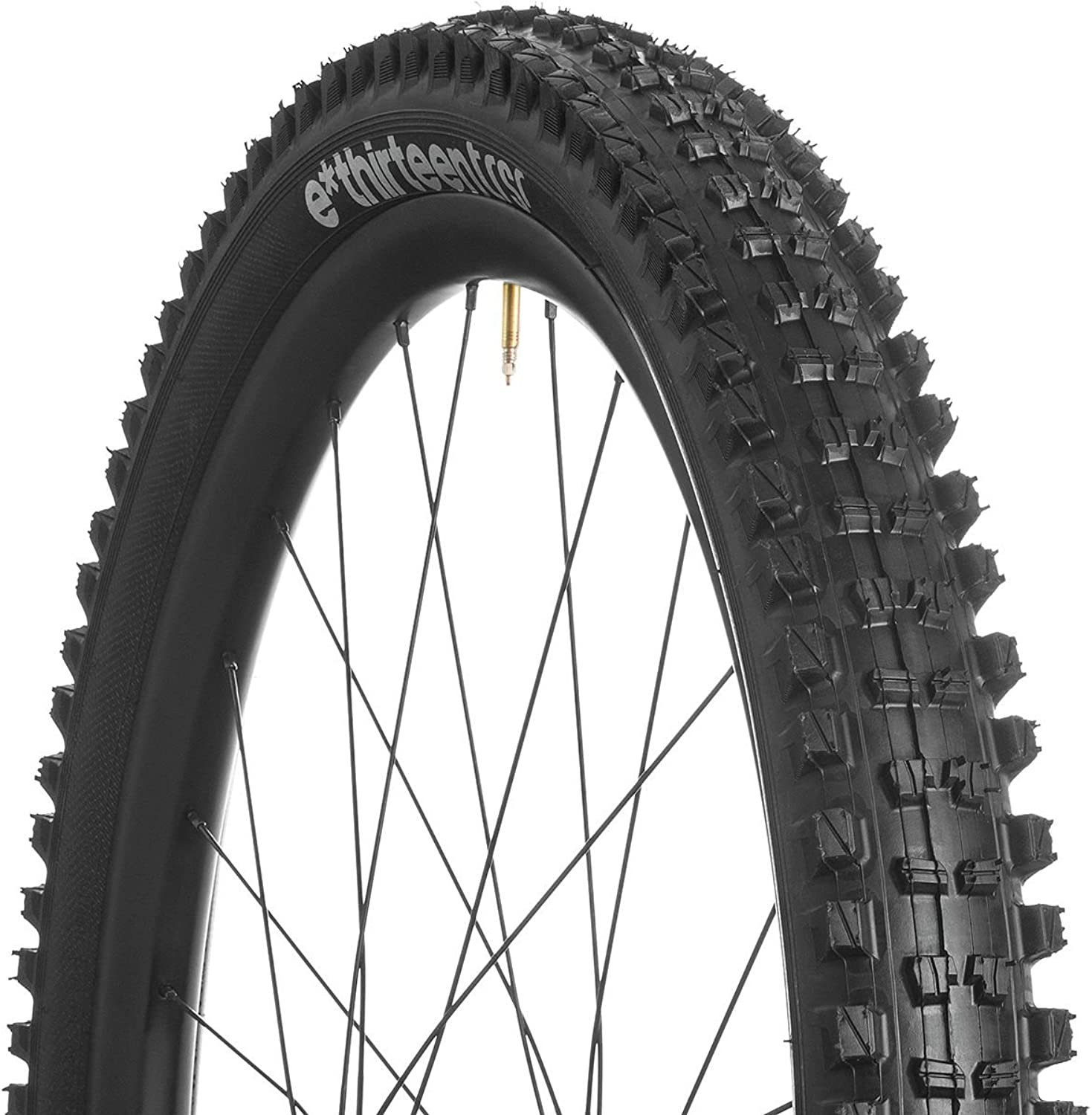 Ethirteen TRS Race Tire, 27.5 x 2.35, Dual Compound, Apex and Aramid Reinforced Casing, Black, Tubeless Compatible