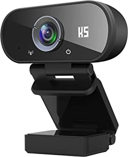 Konnek Stein Webcam with Microphone, HD 1080P Webcam USB 2.0 Computer Camera, 110 Degrees Wide-Angle for Laptop, Desktop, ...