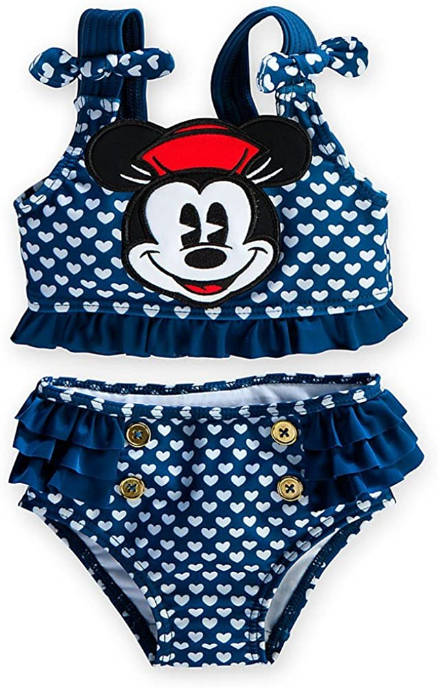 Disney Store Blue Minnie Mouse 2-Piece Swimsuit: Toddler Size 18-24 Months/2T