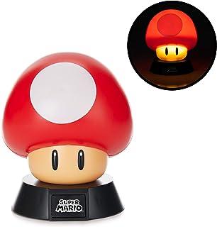 Super Mario Lámpara Mushroom, 50 W, Multicolor