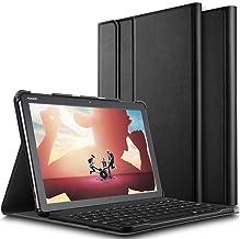 ELTD Funda Teclado Español Ñ para Huawei MediaPad M5 Lite 10, Protectora Cover Funda con Desmontable Wireless Teclado, (Negro)