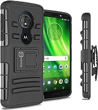 CoverON Belt Clip Holster Explorer Series for Motorola Moto E5 XT1920DL / Moto G6 Play/Moto G6 Forge Case, Black