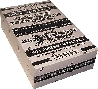 2011 Panini Adrenalyn XL Trading Card Game Football Rack Pack Box