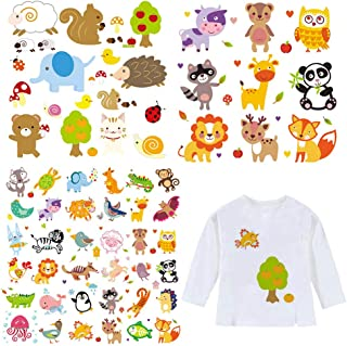 Baby Iron on Patches Cute Cartoon Heat transfers 3 Sheets Lovely Animal Iron on Applique Stickers for Kids Girls T-Shirts Bags Hats Clothing Decorations Garment Accessories Assorted Lovely Patterns