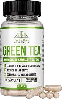 Té verde con cola de caballo y cafeína para eliminar la