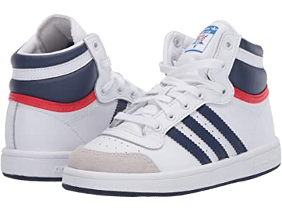 adidas Originals Kids Top Ten Hi (Infant/Toddler) (White/Dark Blue/Power Red) Kids Shoes