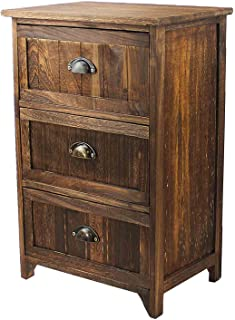 Best rustic 3 drawer nightstand Reviews