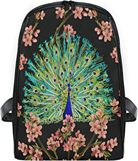 ZZXXB Peacock Cherry Blossom Backpack Kids Toddler Child Preschool Kindergarten Waterproof Book Bags Travel Daypack for Boys and Girls