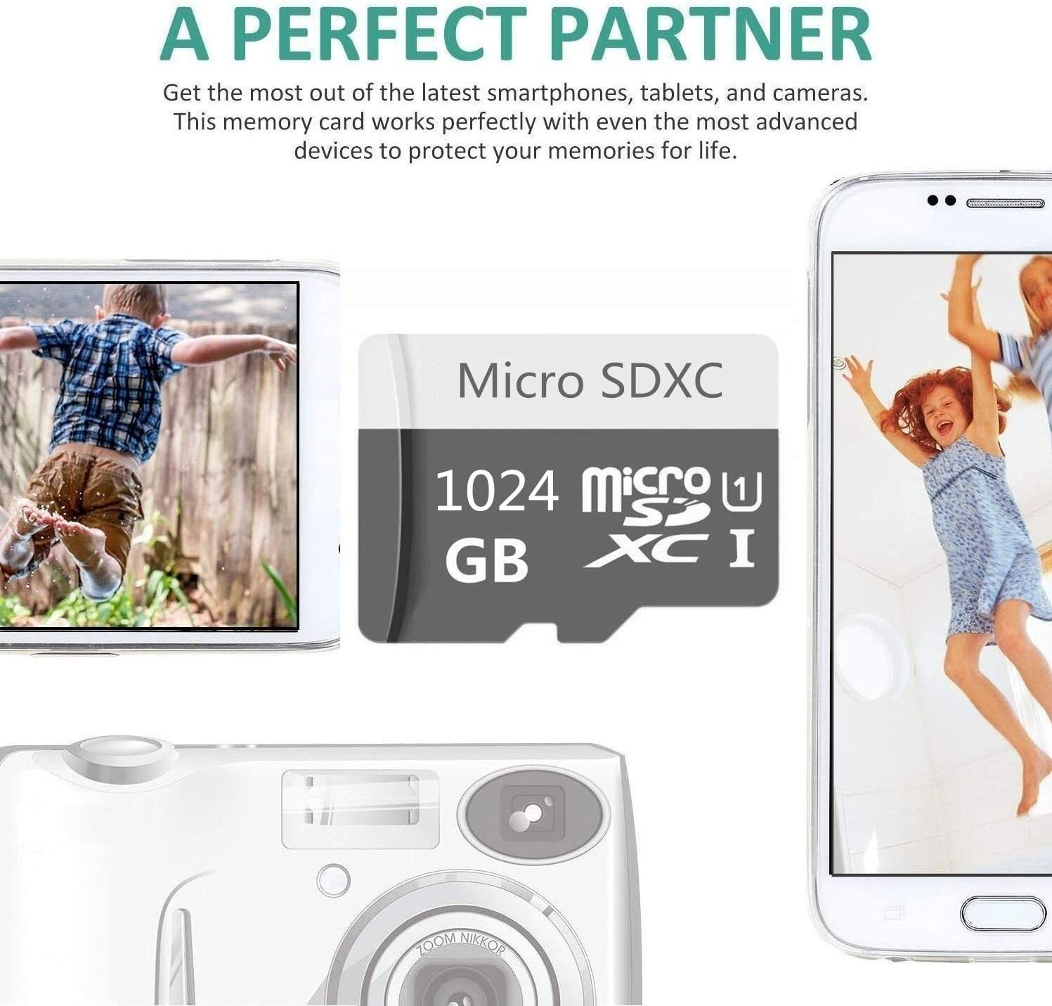 High Speed 256GB Micro SD Card Designed for Android Smartphones 256GB Tablets Class 10 SDXC Memory Card with Adapter