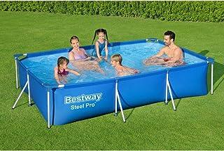 طقم حمام سباحة ديلوكس بإطار للأطفال 3300 لتر من بيست واي 56411