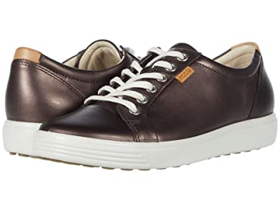ECCO Soft 7 Sneaker (Shale Metallic Cow Leather) Women