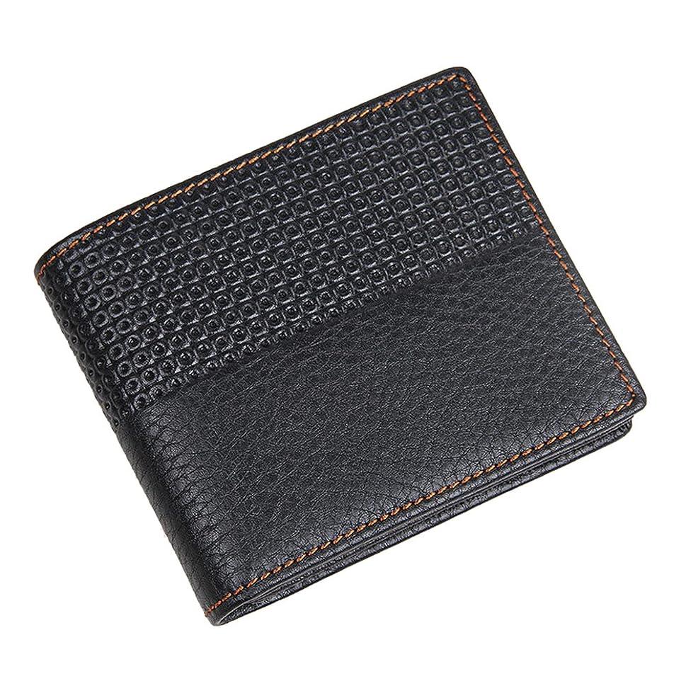 エンティティ可動ごめんなさいGenda 2Archer(JP) 短財布 メンズ レザー おしゃれ 二つ折り財布 軽量 ファスナー カード入れ 本革 牛革 ウォレット シンプル 黒