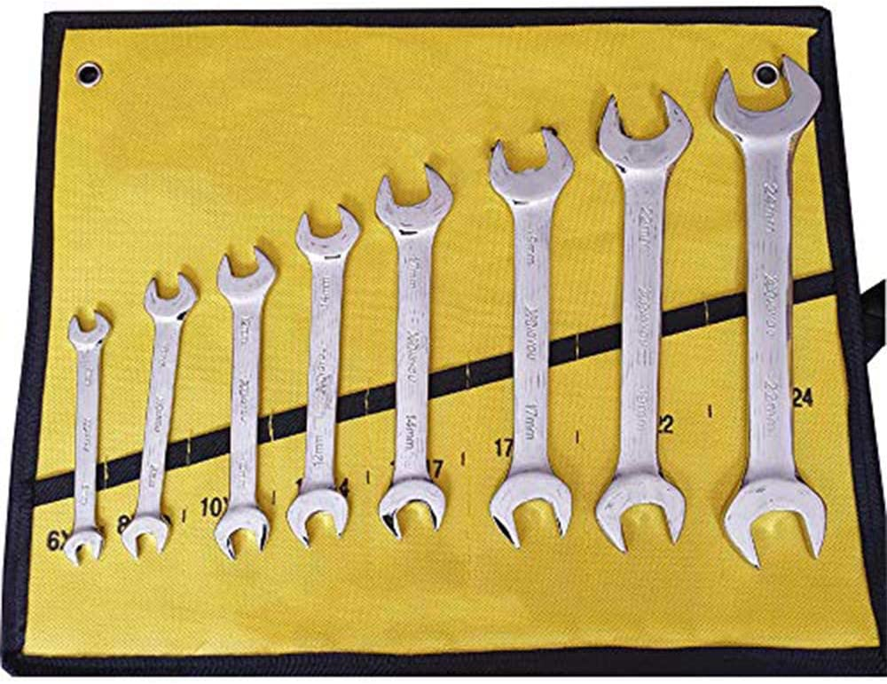 Super-Thin Open End Wrench Set Metric 8-Piece mm OFFicial site to CR Ranking TOP1 6mm 24