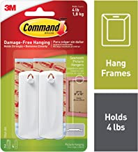 (2 Hangers) - Command Sawtooth Picture Hangers, White, 2-Hanger