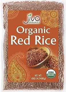 Organic Red Rice 10 LB Bag from India - by Jiva Organics