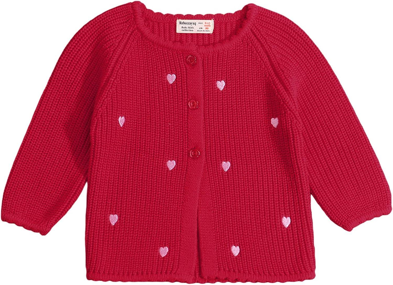cheap Toddler mart Baby Girl Sweater Cardigan Coats Fall Winter Jacket Knit