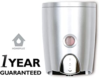 HOMEPLUZ Simply Silver Manual Wall Soap Dispenser 20 oz - Durable Water Resistant ABS Casing - Wall Mounted for Kitchen, Bathroom, Home Office, Hotel, Commercial Buildings