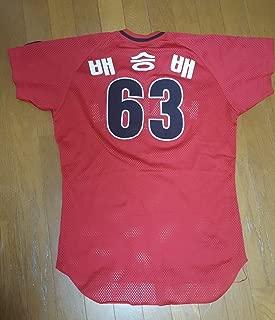 希少韓国プロ野球 ヘテ・タイガース 実メッシュユニフォーム #63 ベ・スンベ