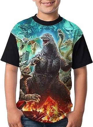 Famous World YouthGod Monster Zilla Tee T-Shirt for Teenager Boys Girls Black