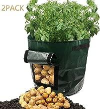 3 Piezas//4 Gallones Maceta de Cultivo de Patatas Macetas de Tela con Asas/& Transpirables /& Degradables PETEMOO Bolsa de Cultivo de Plantas Bolsas para Flores y Verduras