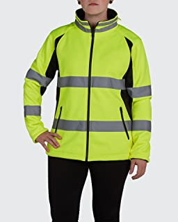 Utility Pro UHV668 Ladies High-Vis Safety Full-Zip Soft Shell Jacket with Waterproof DuPont Teflon, Yellow, X-Large