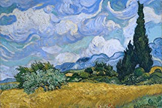 Vincent Van Gogh Wheat Field with Cypresses Cool Wall Decor Art Print Poster 36x24