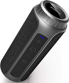 Enceinte Bluetooth Portable, Zamkol Bluetooth 5.0 Enceinte sans Fil, 10 Heures De Lecture, Son à 360 Degrés, Basses Amélio...