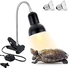 Pssopp Reptile Infrared Heating Lamp Light Snake Terrarium Lizard Turtle Sunlight Lamp Reptile Brooder Bulb Basking Light for Reptile Snake Lizard Insect Turtle Tortoise with Iron Mesh 20W