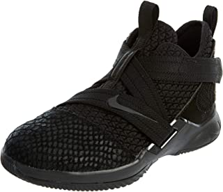 Lebron Soldier XII SFG (PS) Boys Fashion-Sneakers AO2912-003_12.5C - Black/Black-Black