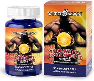 VITROMAN Tomato Lycopene (120 softgels), Cardiovascular Support, Premium Quality Antioxidant - 100% Natural Tomato - Great...