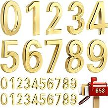 30 stuks 3D brievenbus nummers 0-9, zelfklevende huis deurnummer sticker straat adres nummer stickers voor brievenbus, kan...