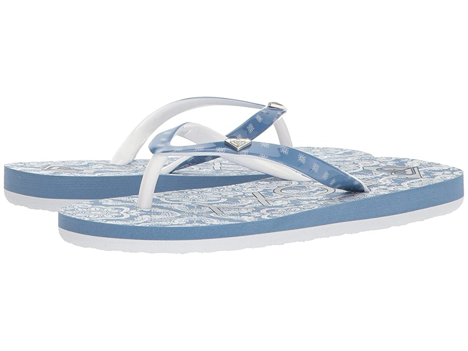 Roxy Kids Pebbles VI (Little Kid/Big Kid) (Blue/White) Girls Shoes