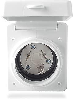 30 amp RV Inlet Receptacle, RV Power Plug Twist Lock Inlet, Marine Shore Power Inlet Box 30A 125V