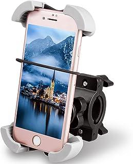 Quntis Bike Halter Fahrrad Motorrad Lenker Halterung Halter Stabiler und sicherer mit 360º drehen für iPhone SE iPhone 6 6 Plus 6S 6S Plus, Samsung Galaxy S5 S6 S6 Edge S7 mehr Smartphones GPS Geräte
