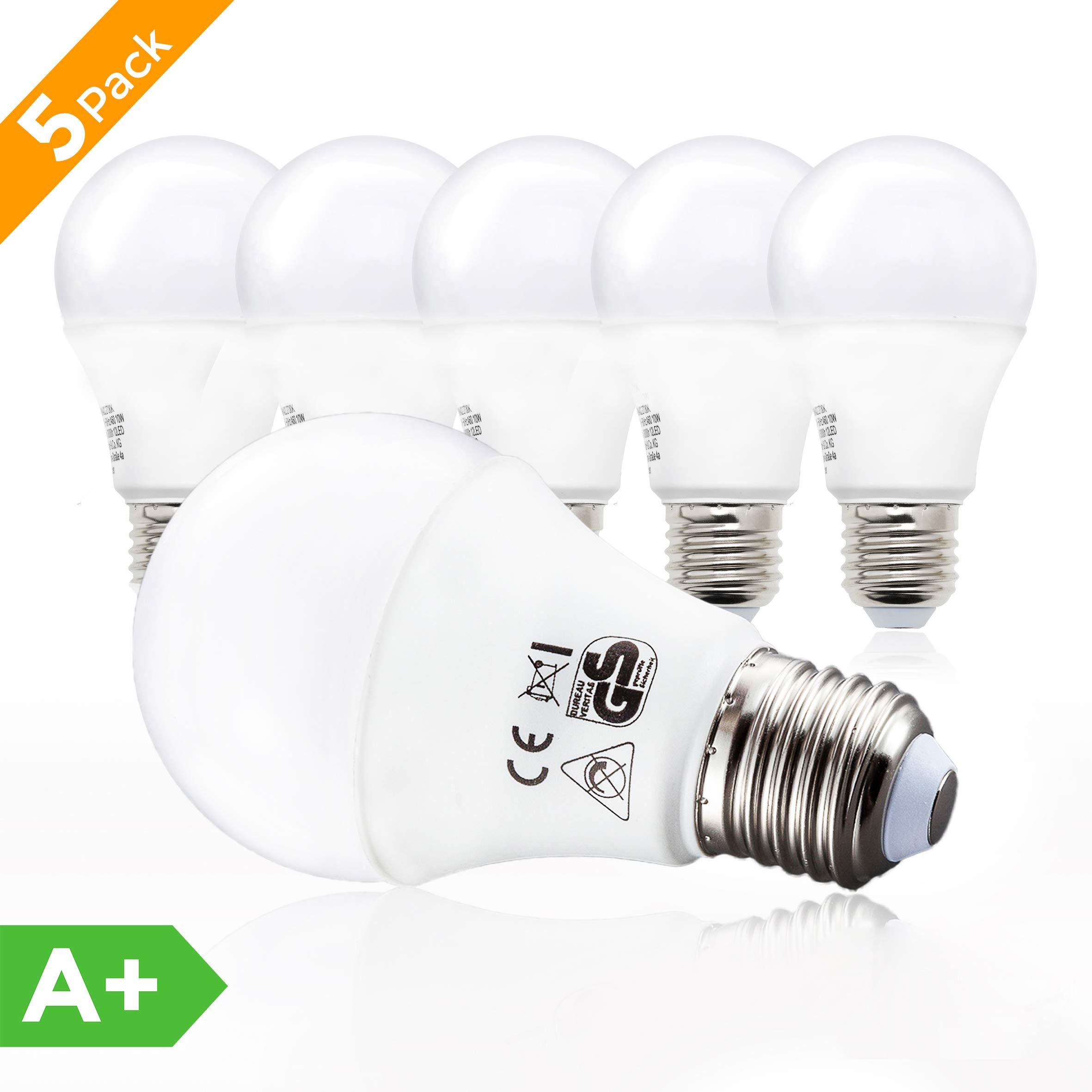 B.K.Licht Bombillas LED E27 I Ecológico I 9W equivalente a 75W I ...